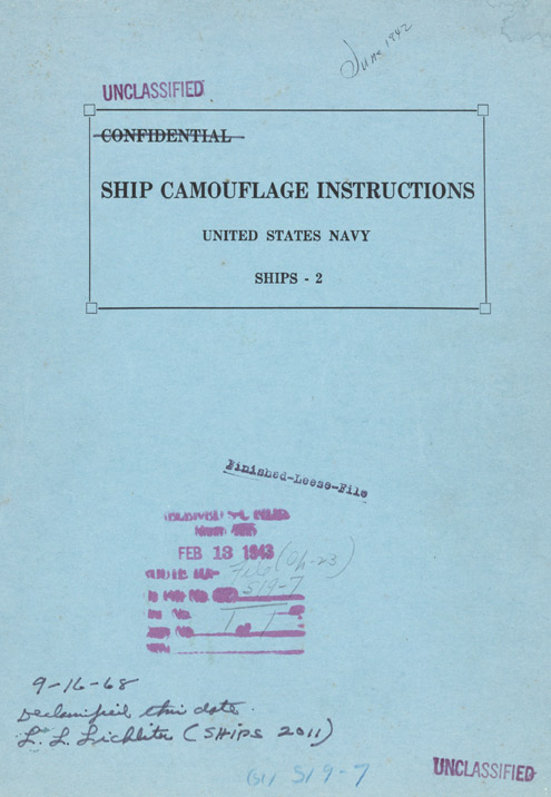 SHIP CAMOUFLAGE INSTRUCTIONS UNITED STATES NAVY SHIPS - 2