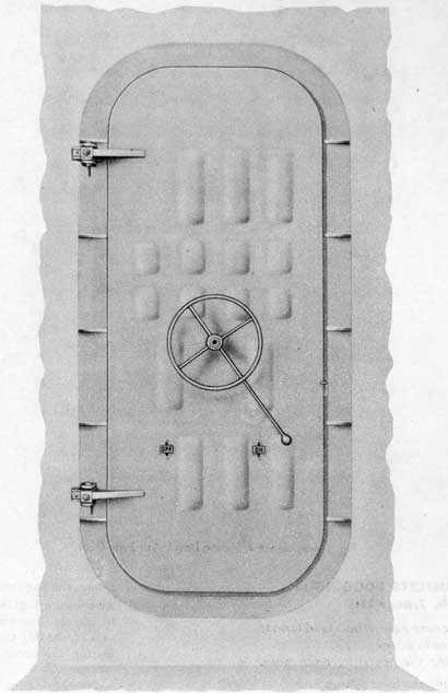 Fig. 1-Outside view of Sliding Dog and Rotating Dog Lever Type Doors.