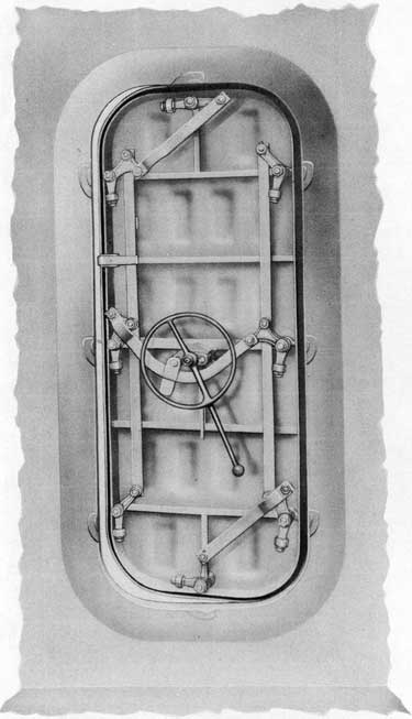 Fig. 4-Inside view, Rotating Dog Lever Type Door.