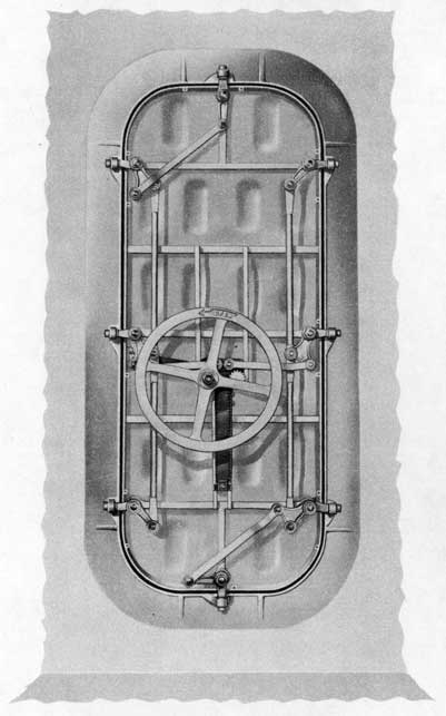 Fig. 6-Inside view, Rotating Dog Rack and Pinion Type Door.