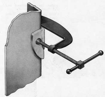 Fig. 10-Wedge ready for welding, Rotating Dog Type Door.