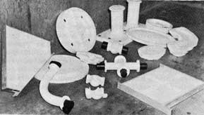 Figure 41. Plaster patterns and core boxes.