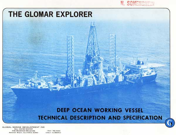Glomar Explorer The Glomar Explorer Deep Ocean