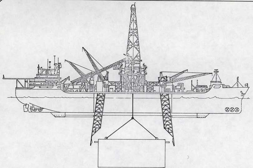 Figure 2-37. Subsea Equipment Undocked and Ready for Lowering