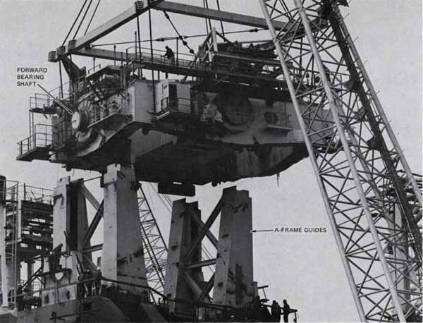 Figure 2-8. Gimbal Platform Being Lowered During Installation