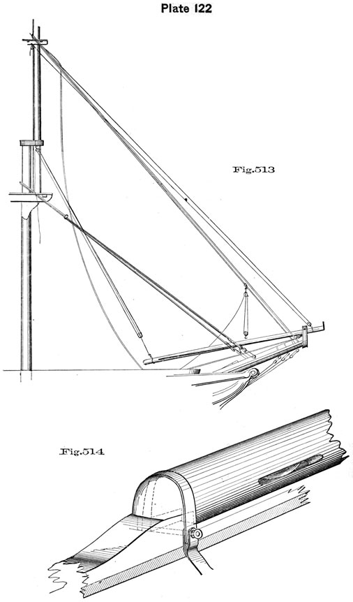 Plate 122, Fig 513-514. Shifting Jib-Boom.