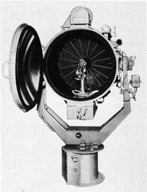 Fig. 13. Searchlight, showing Lamp in Position.