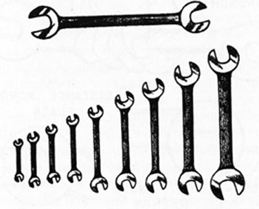 FIG. 16. SET OF OPEN-END WRENCHES.