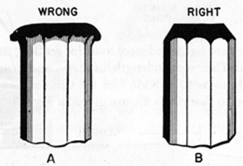 FIG. 37. KEEP CHISEL HEAD GROUND OFF.
