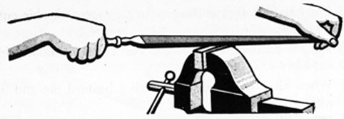 FIG. 45. CORRECT WAY TO HOLD FILE.