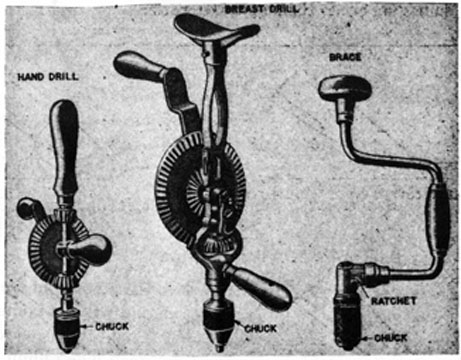 FIG. 50. HAND DRILLING TOOLS.