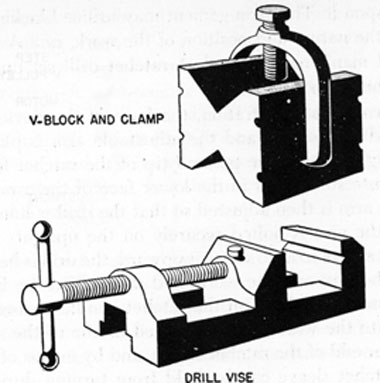 FIG. 62. DRILL VISE AND V-BLOCK.