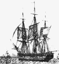 Sketch of USS Constitution