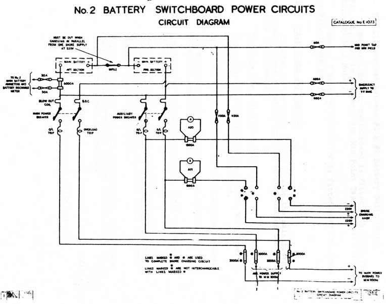 Cf o class submarines electrical systems no 2 battery switchboard power circuits circuit diagram cheapraybanclubmaster Choice Image