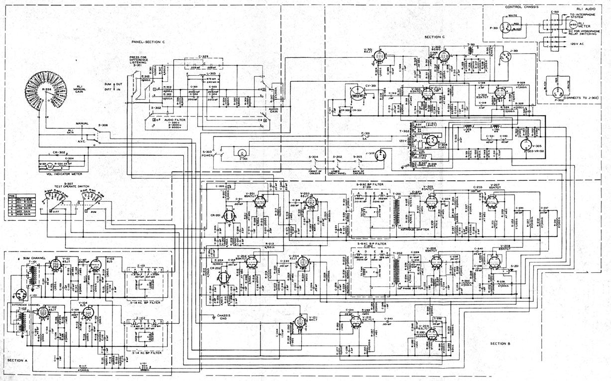 Marvelous Naval Sonar Figure 13 13 Schematic Diagram Of The Amplifier Of Wiring Cloud Hisonuggs Outletorg