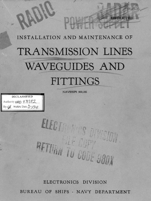 Transmission Lines Waveguides and Fittings