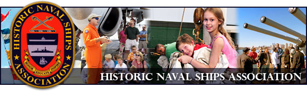 Historic Naval Ships Association, Crest with photos of visitors at the ships.